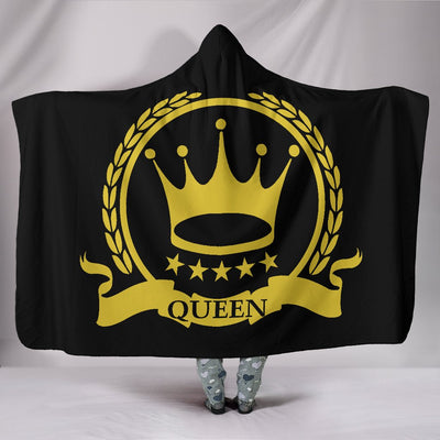 Golden Queens Hooded Blanket
