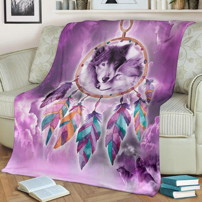 Dreamcather King And Queen Wolf Blanket