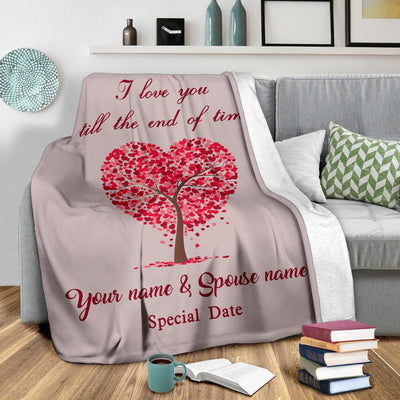 """Love Tree"" Personalized Blanket"
