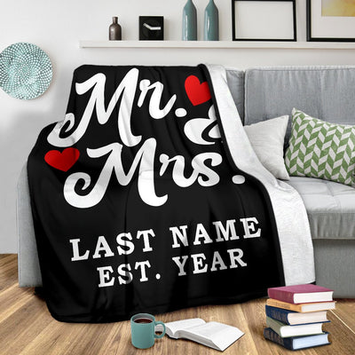 Mr And Mrs Customised blanket