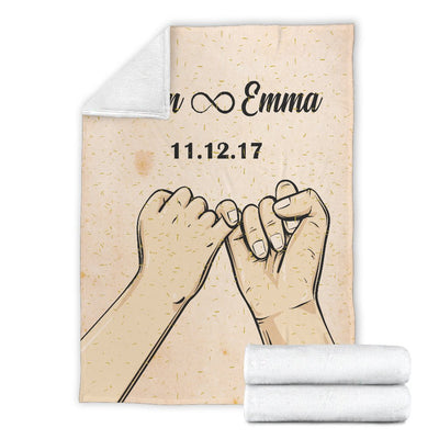 Personalized Pinky Promise Blanket