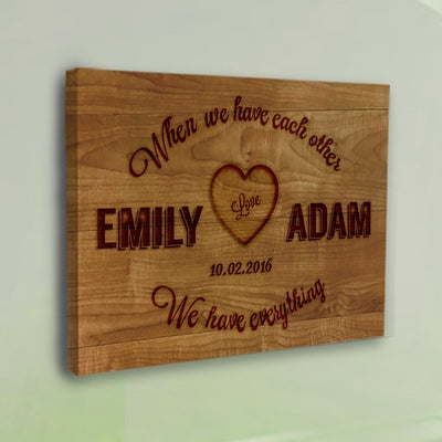 Love Each Other Canvas Wall Art - Exclusively Made