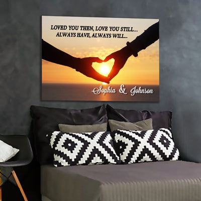 """Loved You Always"" Sunset Premium Canvas"
