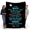 """To My Beautiful Wife"" Custom Blanket"