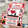 """To My Wife- I Wish I Could Turn Back The Clock"" Customized Blanket For Wife"