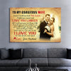 To My Gorgeous Wife - Personalized Premium Wall Art
