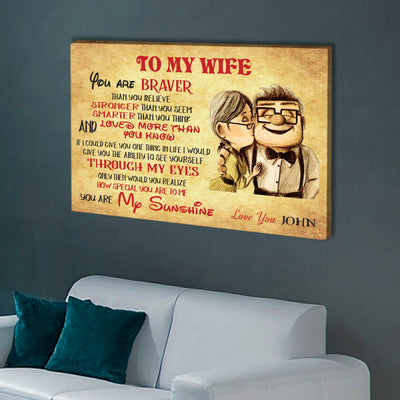To My Wife - Personalized Premium Wall Art