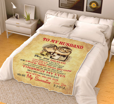 To My Husband - Personalised Blanket