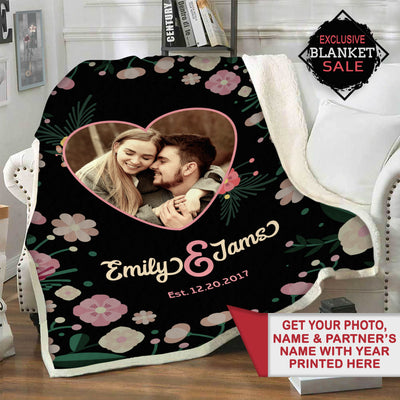 Personalized Blanket With Your Names & Photo