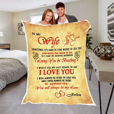 To My Wife - You Will Always Be My Love - Blanket