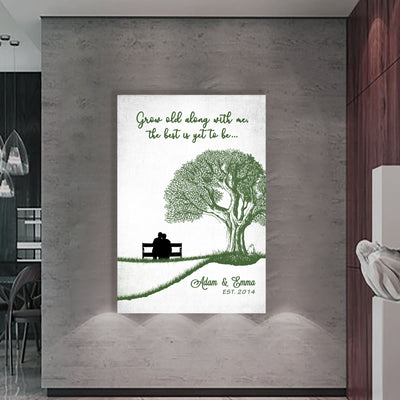 """Grow Old Along With Me"" Premium Wall Art"