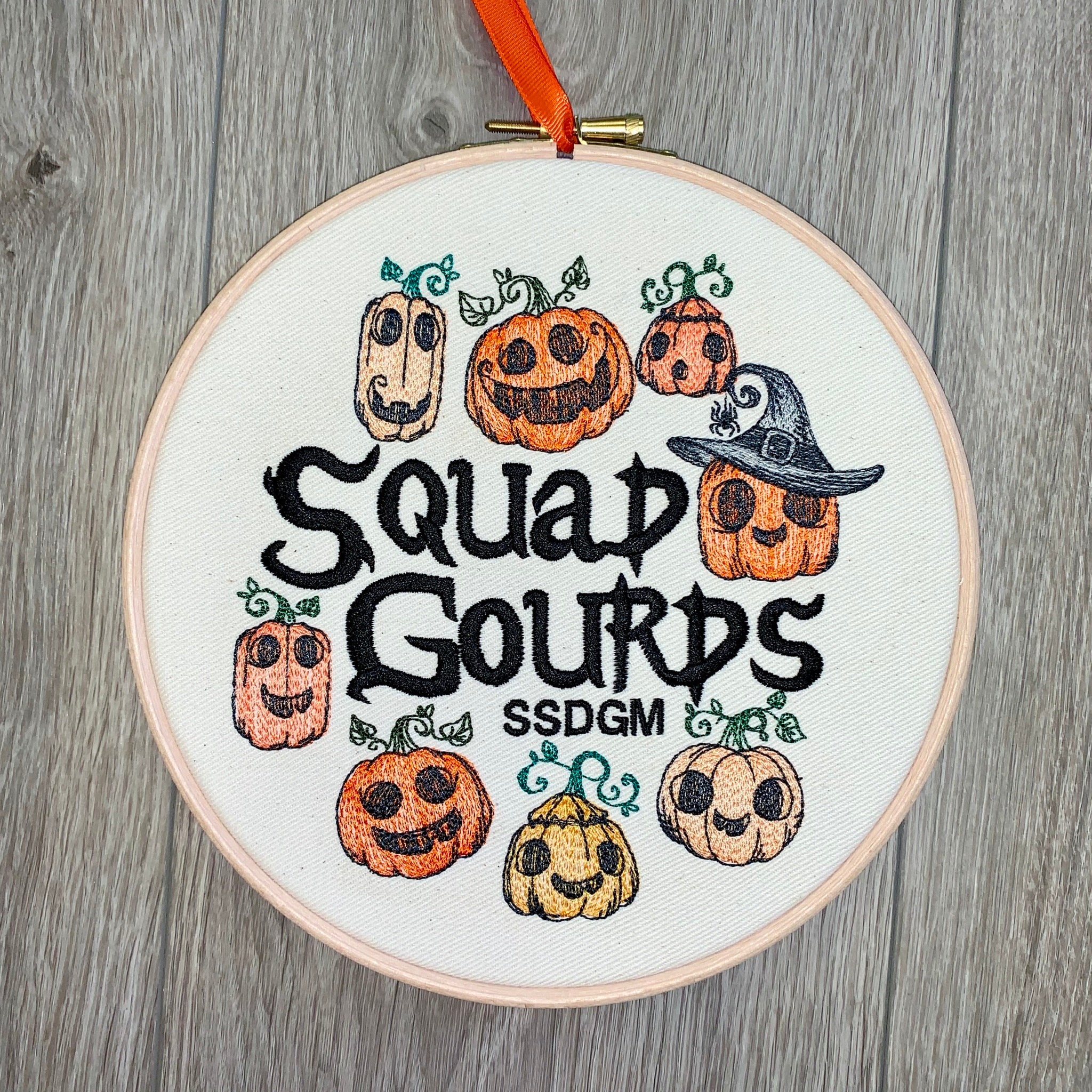 Squad gourds SSDGM Embroidery hoop art