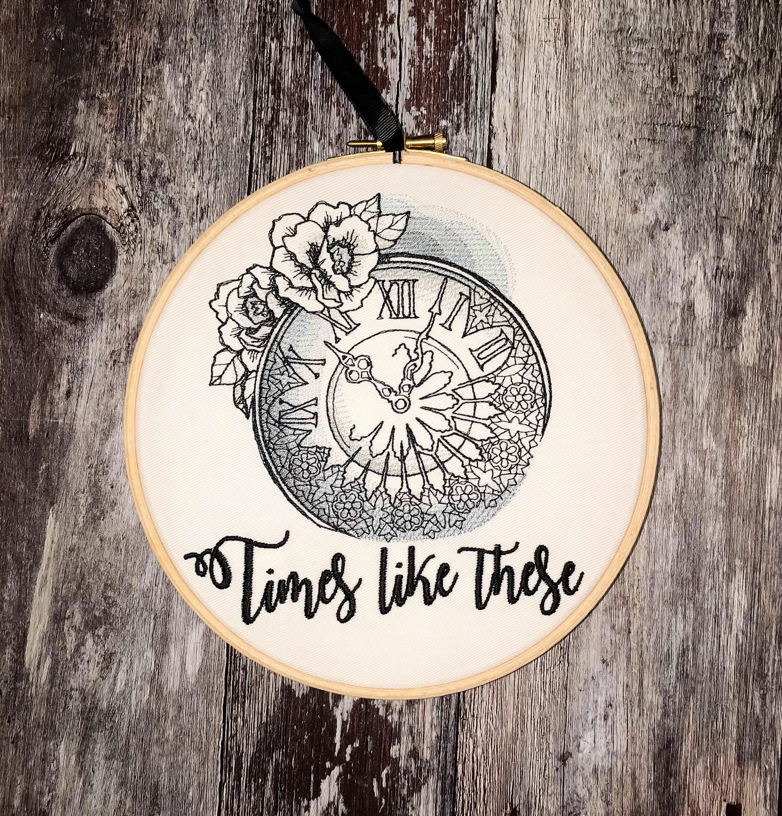 Times like these, Foo Fighters Embroidery hoop art