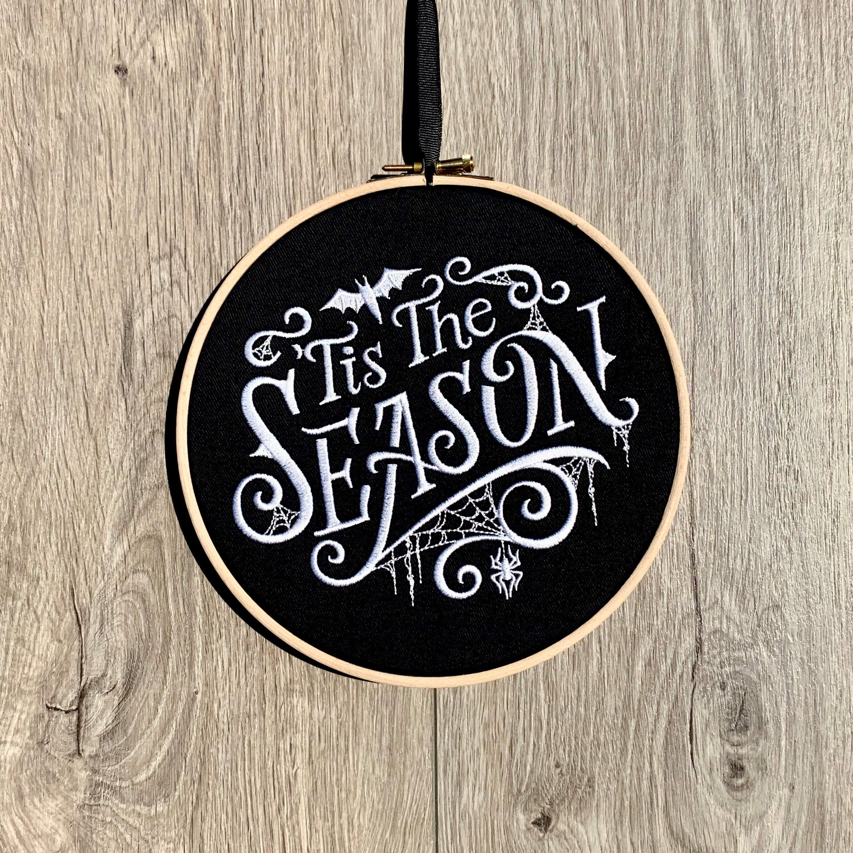 Halloween Tis the season, Embroidery hoop art