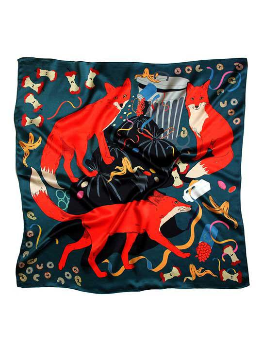 Midnight Feast Silk Scarf