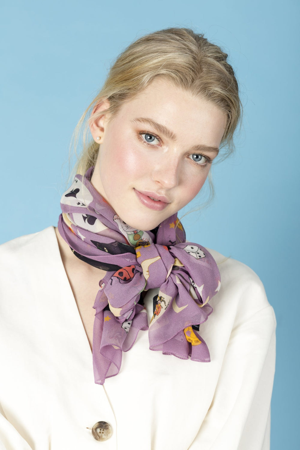 Lucky Day Silk Georgette Scarf