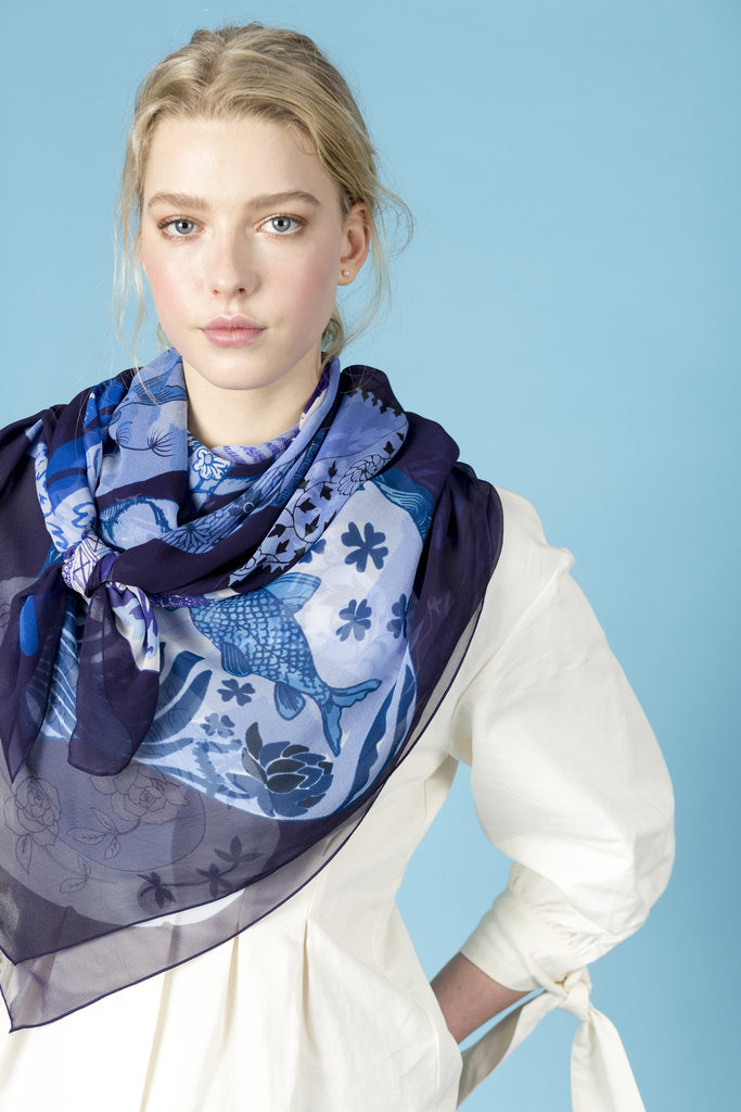 Pottery Silk Scarf
