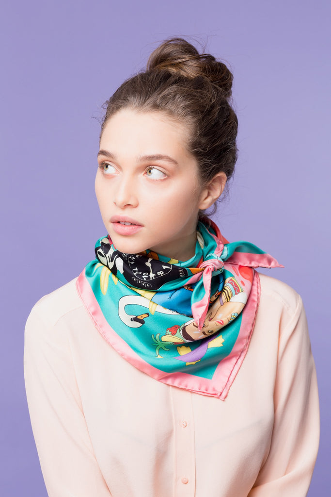 Jumble Sale Silk Scarf