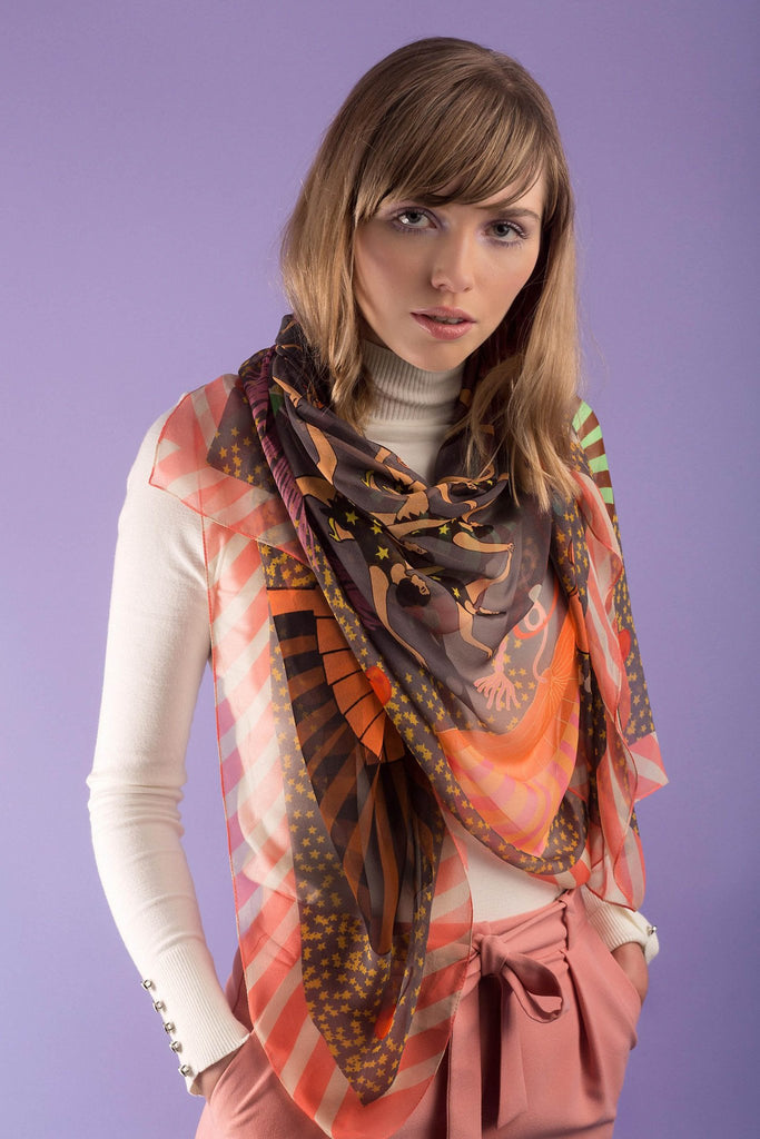 Great Gatsby Silk Georgette Scarf