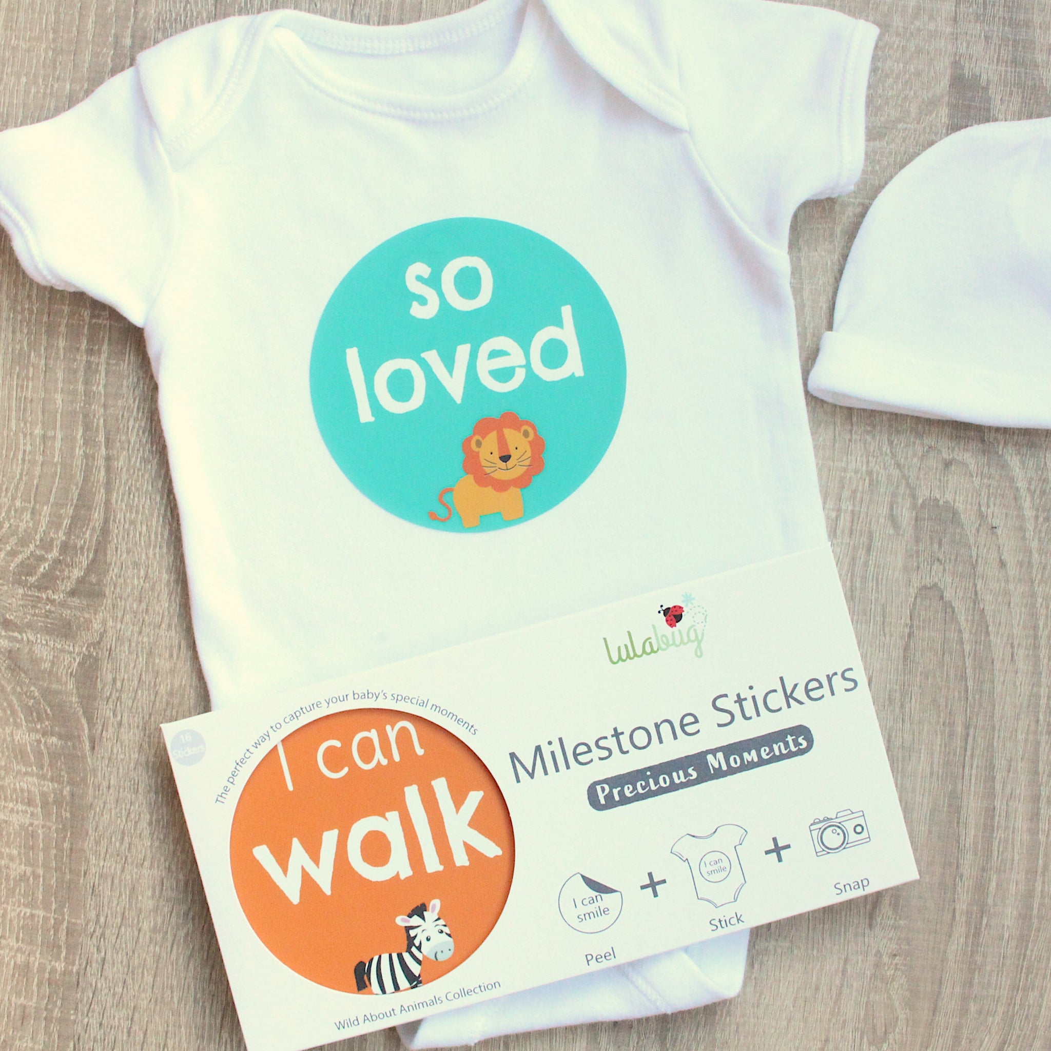 Precious Moments Milestone Stickers - Wild About Animals
