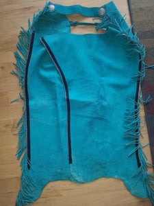 Western Show Chaps Turquoise