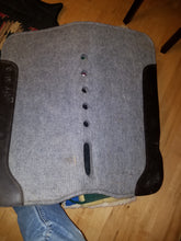 Load image into Gallery viewer, Gray Wool Saddle Pad