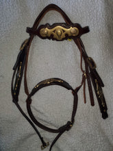 Load image into Gallery viewer, Handmade Celtic Style Headstall with Noseband - WOW!