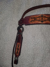 Load image into Gallery viewer, Handmade Burgundy Leather Pony Bridle