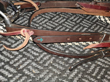 Load image into Gallery viewer, Weaver turquoise cross bridle