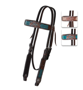 Circle Y Turquoise Distressed Gator Tack