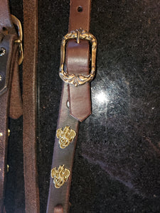 Custom Large Horse Dragon Headstall