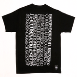 World Wide-Black Tee Crystal Ink
