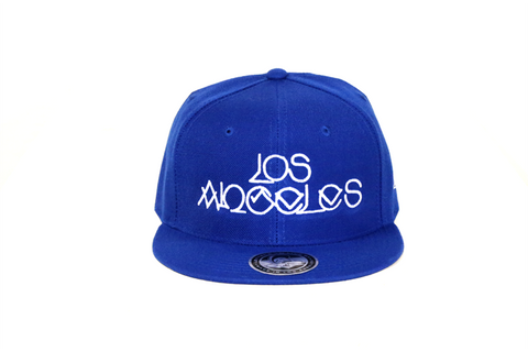 Los Angeles Classic Handstyle Snap Back-Royal Blue