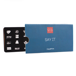 OTE-028 Plaque de stamping. Say It #1