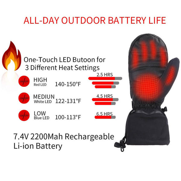 Keepwarming Leather Electric Heated Mittens