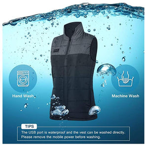 Battery Heated Vest | Men Lightweight Thermal Sleeveless Coat | Keepwarming