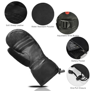 Savior Goatskin Heated Leather Mittens 3