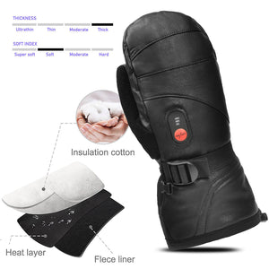 Savior Goatskin Heated Leather Mitten 4