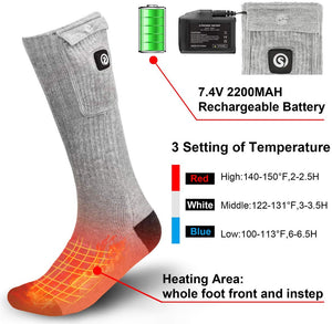 Rechargeable Battery Powered Socks 4