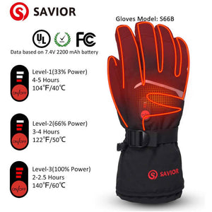 Savior Unisex Thick Heated Gloves 2