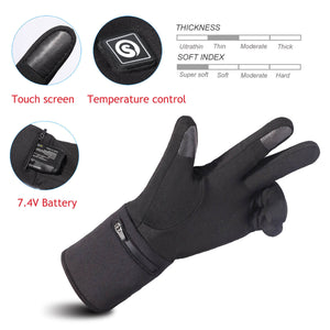 Thin Hand Warmer Heated Gloves |  7.4V Rechargeable Battery Powered Gloves | Savior