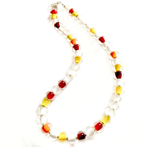 Chiefs Glass Pearl Necklace