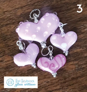 Bubble Pink Custom Large Heart (small hearts sold separately see hearts section)