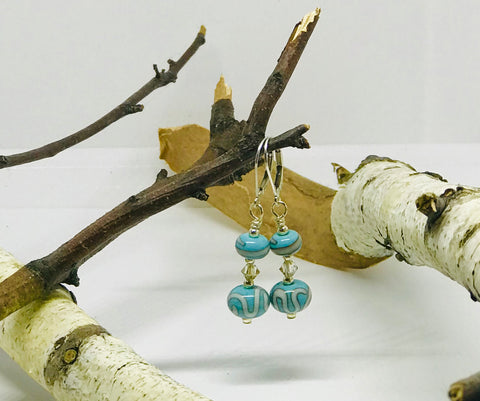 Double Turquoise Earrings