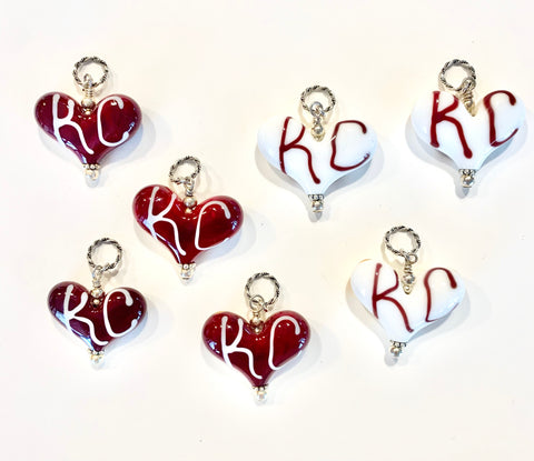 KC/Chiefs Hearts - Medium Sized