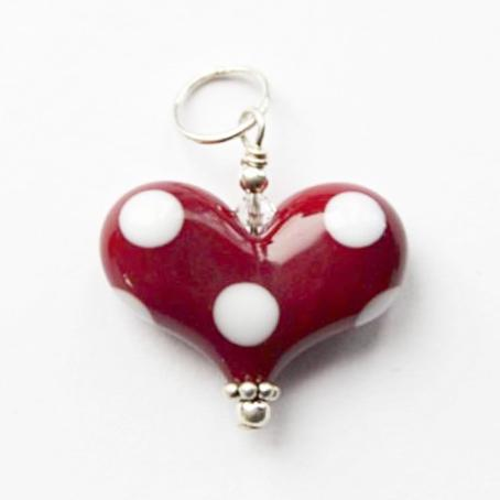 Heart of the Day Small Heart with Polka Dots!