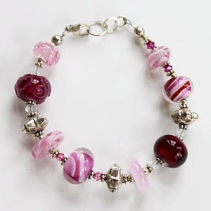 Shades of Pink Silver Bracelet