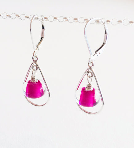 Glass Pearl Earrings - Teardrop