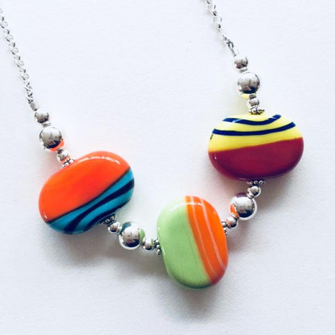 Flat Disk Necklace