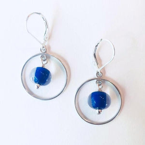 Glass Pearl Earrings - Round